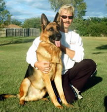 Dog trainer Matthias Zehfuss